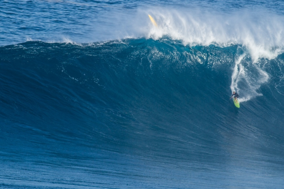 John John flew out with Jamie O'Brien  and a few other guys from Oahu and they weren't disappointed.
