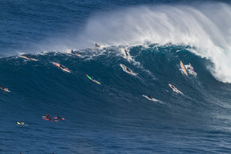 If there are this many people on Maui capable of surfing 30ft Peahi then where do you sit in the hierarchy of surfing talent?