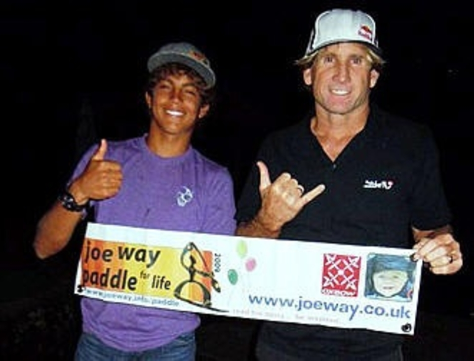 Kai Lenny and Robbie Nash at Robbie's house over looking Jaws