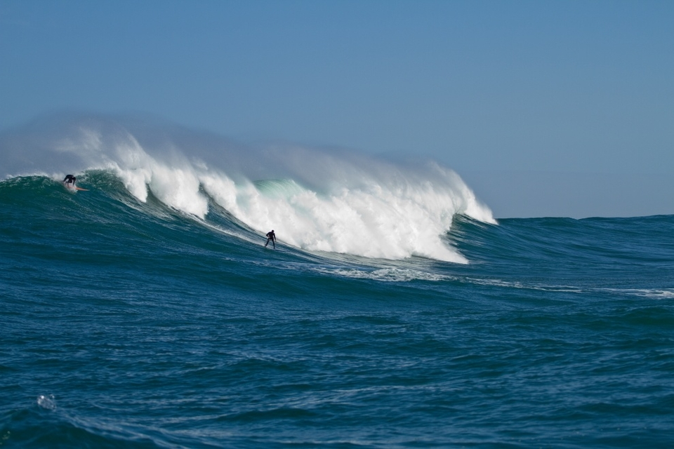 Josh Redman -- a Durban boy now settling in for our winter -- is totally at home out here. He was after all one of the youngest surfers ever out at Dungeons, at 14-years-old!