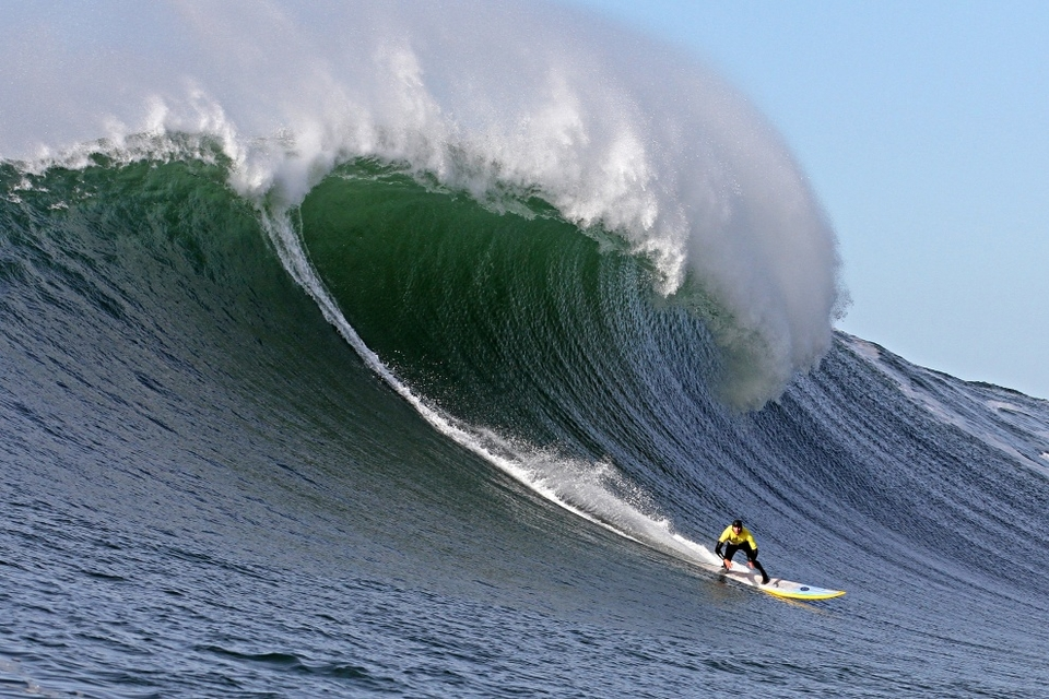 Aaron Ungerleider also heralding from the North Shore of Hawaii on what could easily be a peaky Mavericks number.
