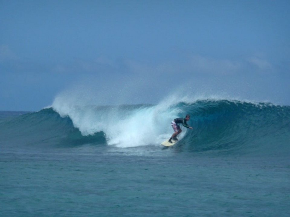 Jole the grommet on the best wave of his life so far @ Pebbles
