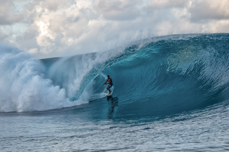 Ruarii Atani on one of the more solid waves of the day.