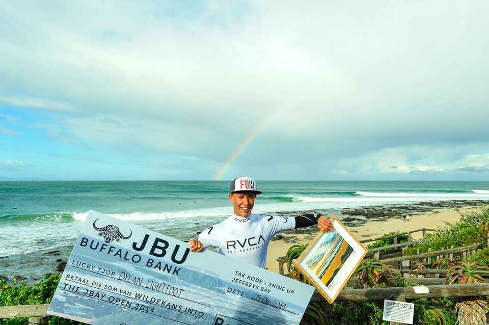 """I am so stoked; this is a dream come true,"" said Lightfoot after the event. ""I have wanted to surf in the World Championship Tour (WCT) event in Jeffreys Bay since I was a kid and winning the JBU Supertrial has given me that opportunity."""