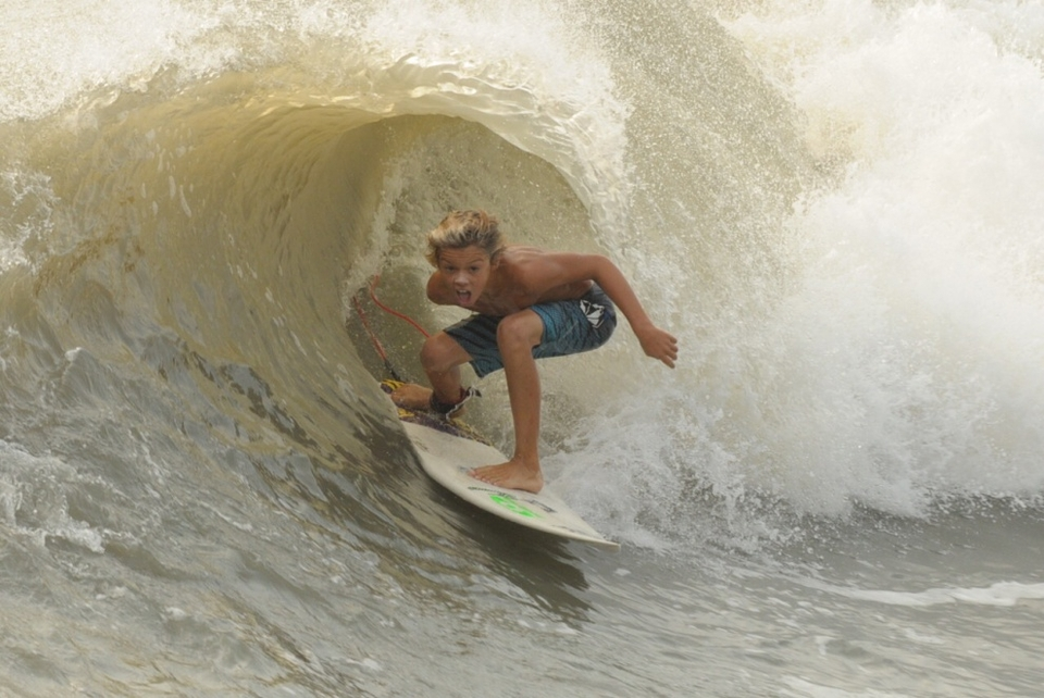 Happy to be in the shack much? ... Robbie McCormick, Flagler Beach, Florida.   More  here