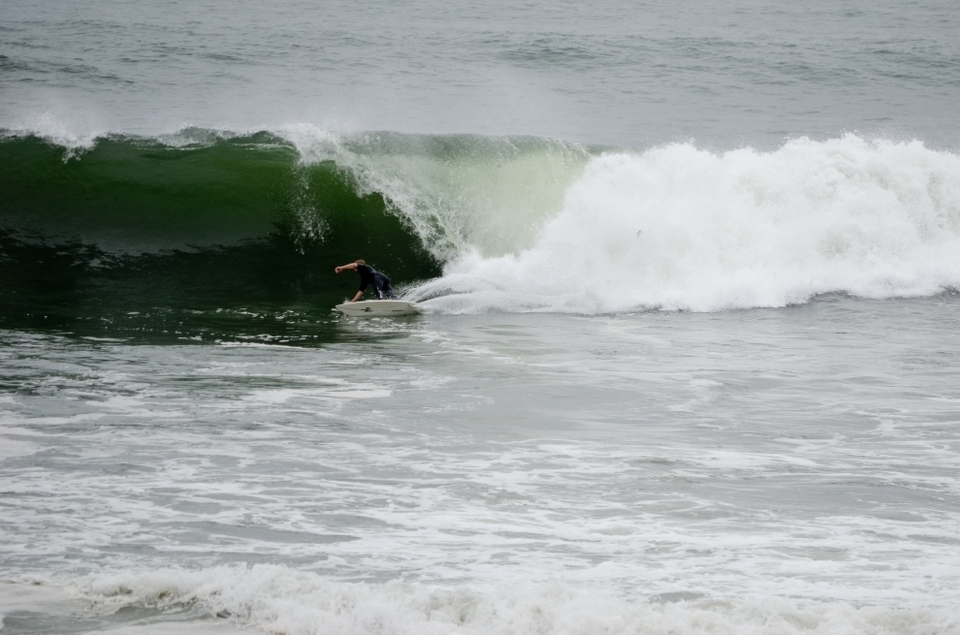 Desperately carving for the barrel at Stokton .. did he make it? 	   More  here