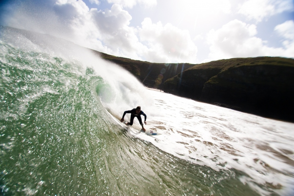 The UK saw a weekend of solid surf but really this was a sneaky low just pushing in front of Katia (which arrived on Monday). We're not sure it's a legit entry? Sweet shot in any case.     More  here
