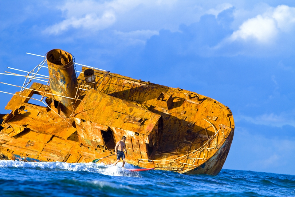 Shipwrecks are everywhere along this cost, and we did our best to not become a statistic.