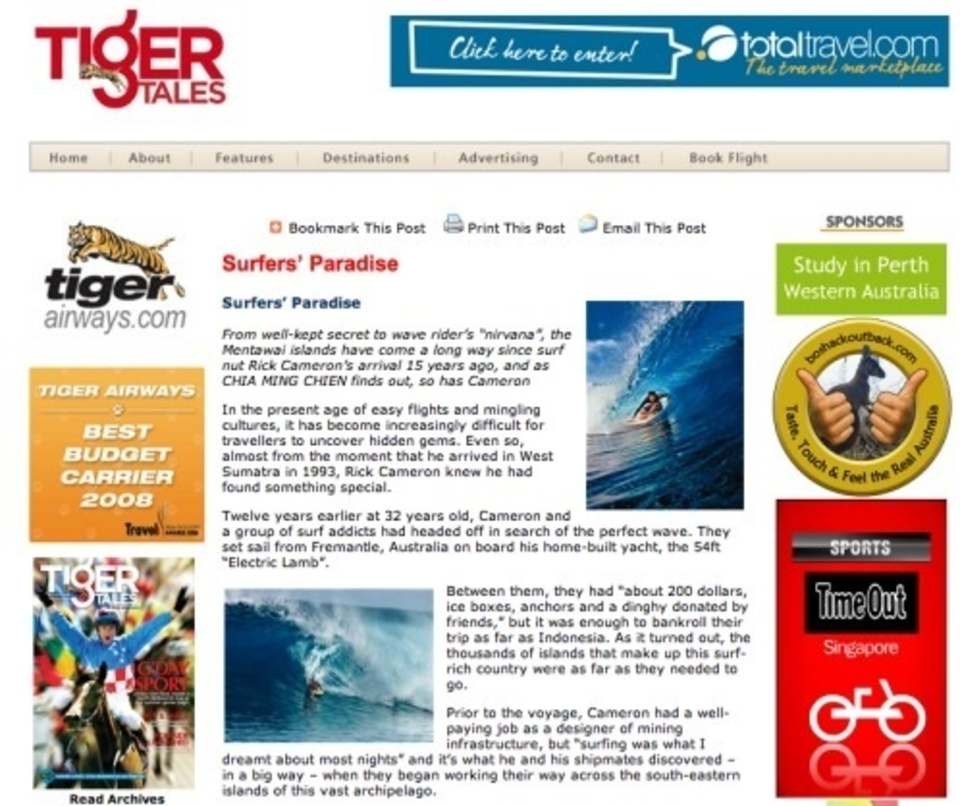 Tiger Tales Inflight Magazine