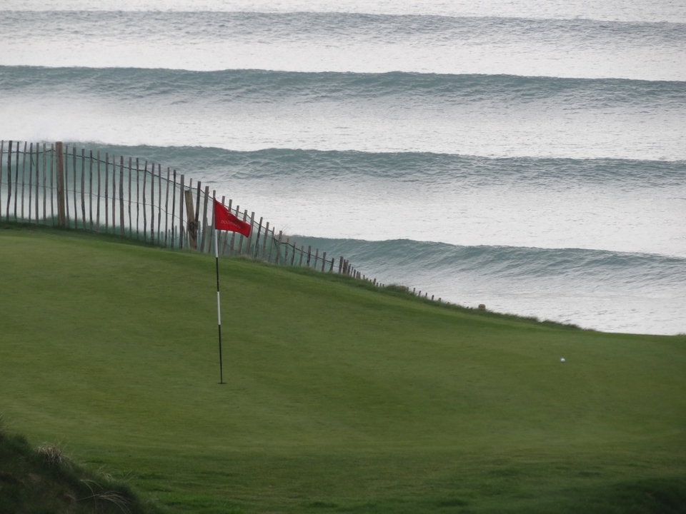 Golf is a good surf ruined... Lahinch locals have their priorities straight.     More from Kevin Kenny  here .