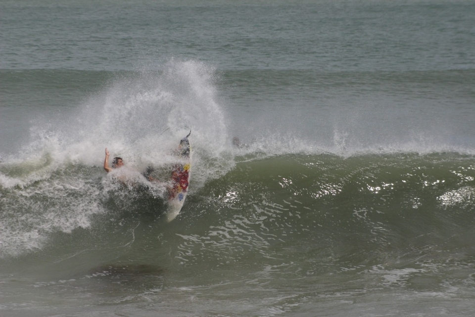 Hurricane Leslie proving the platform for Sebastian Inlet surfers to get loose, really loose.