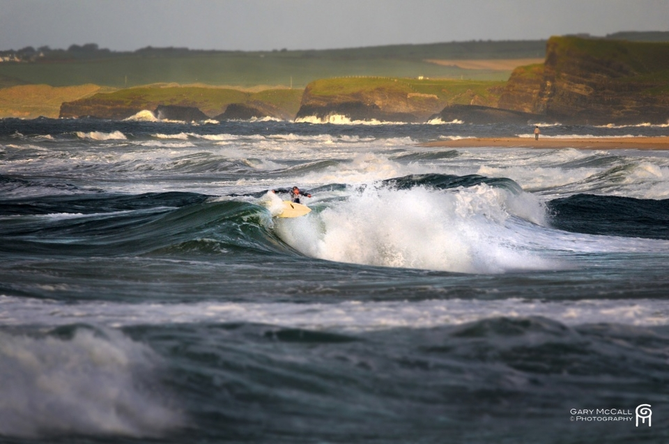 Image 7:  Portrush, Ireland.   Al Mennie grabbing a moment of Leslie as the extra-tropical threw its last pulse of wind and waves towards Europe.