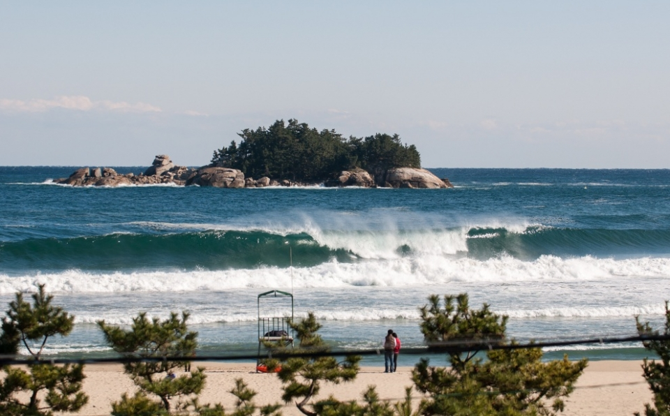 A few miles south of the North Korean border, 38th Parralel Beach is one of  of South Korean surfing.