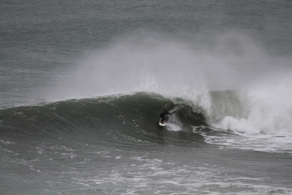 Ougunning the happy spot at Porthleven on March 10th.