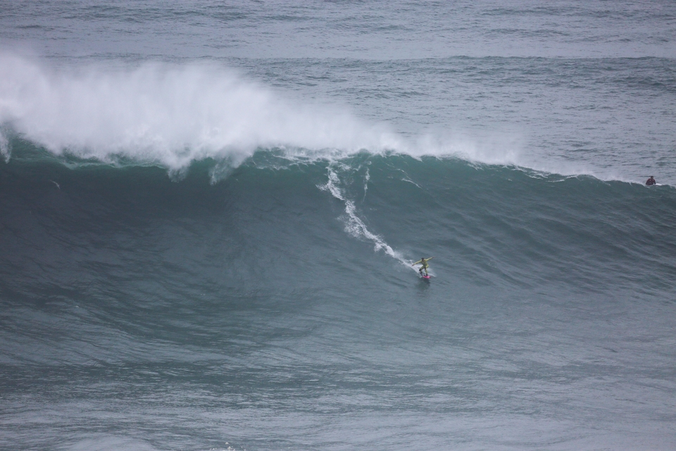 Justine Dupont has been a standout at XL Nazare this season.