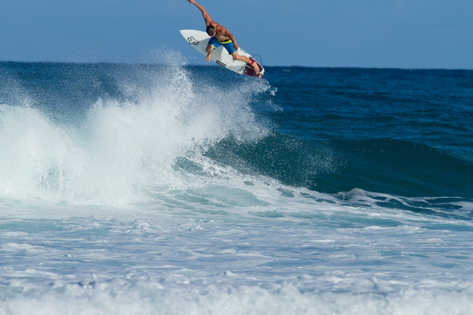 CJ Hobgood always enjoys a good surf at Rockies.