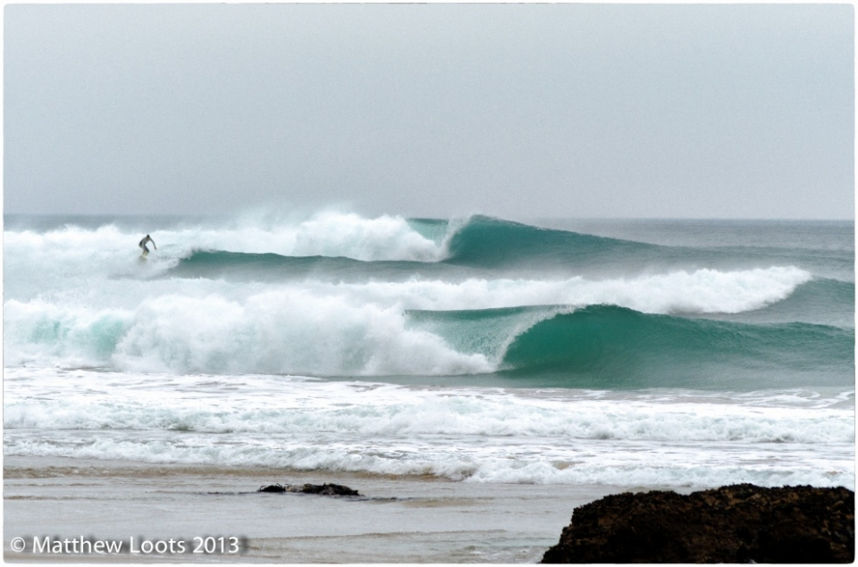Porthtowan, Cornwall, peeling away at midday on September 23. A day to remember for South West surfers.