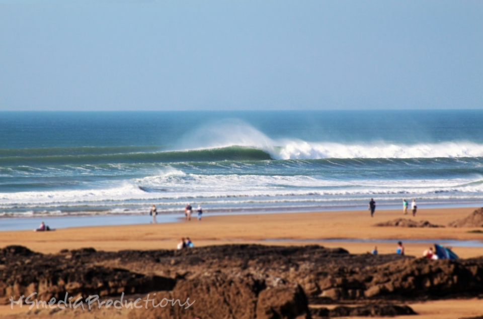 A lonesome bomb goes unridden at Bude, North Cornwall.