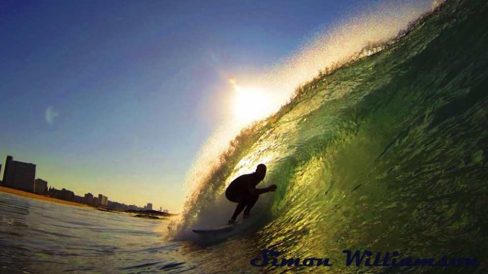 Warner Beach, South Africa.  I shoot Baggies Beach a lot and this particular day I arrived to find Andrew Cheary by himself surfing a  firing shorebreak. He is known as the