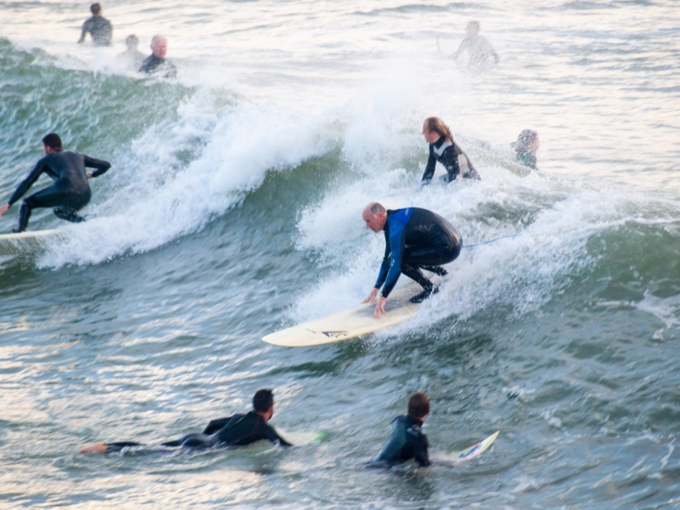 Sharing is inevitable when you get enough wave starved surfers together.