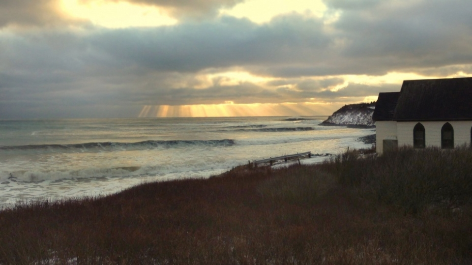 A snow sprinkled shot from Cow Bay to nurture your festive feelings.