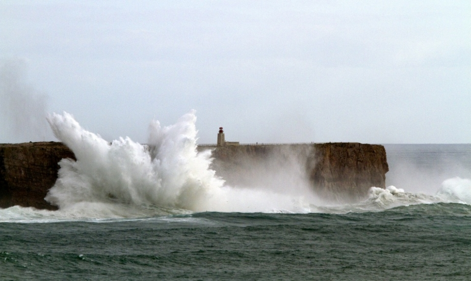 Fist of the storm in Sagres...
