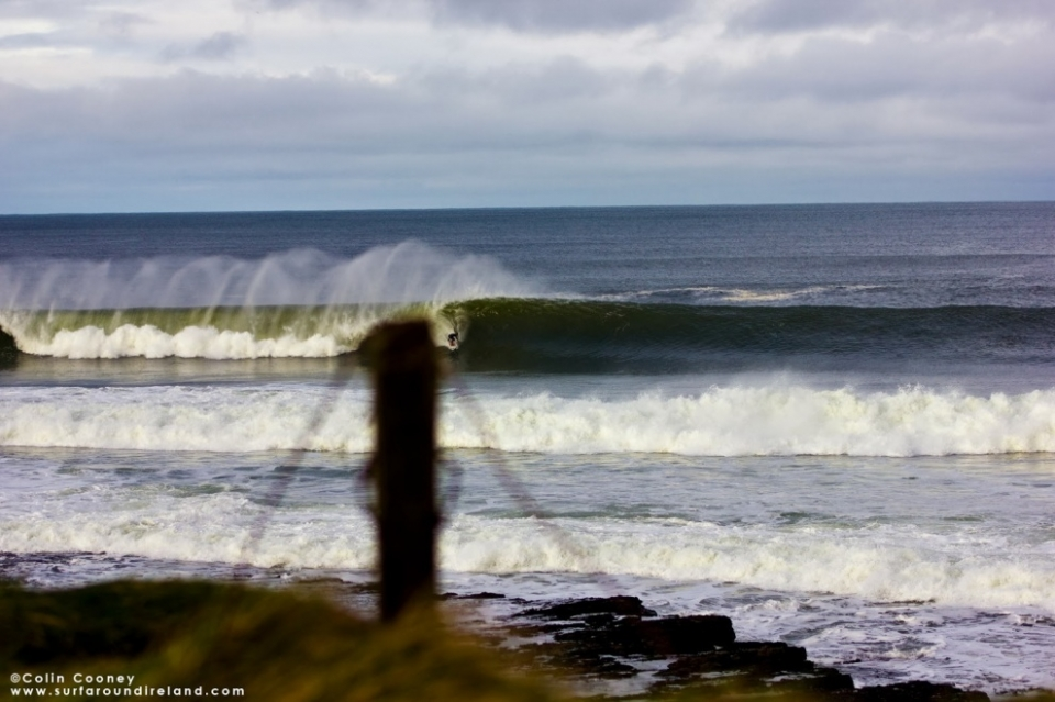 Nic von Rupp at Bundoran the day before the storm.