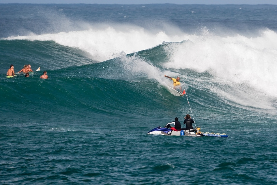 The other big name, Sunny Garcia, got through the round of 128 but is yet to surf in the 96. Reluctant to say too much too soon, Garcia was fairly tight-lipped about his success.