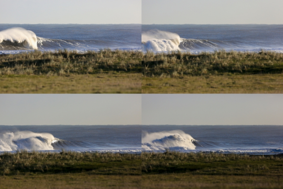 There could have been 20 shots in this sequence which all would have drawn an 'ooooooh' from any avid surfer.