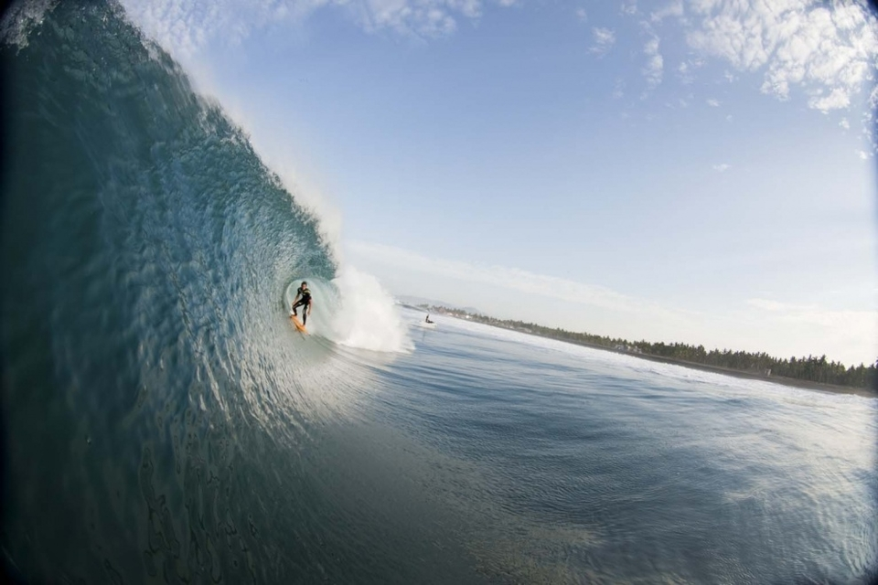 Brian Conley scrambled back from Tahiti just in time to score the same Mexican swell.