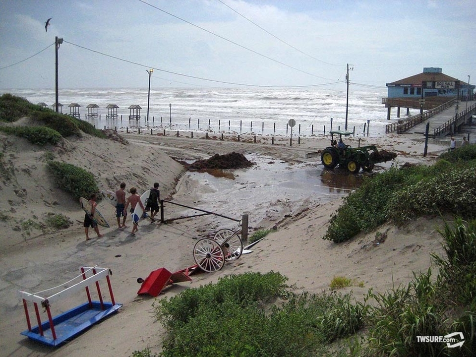 Hurricane Alex storm surge damage at Bob Hall Pier outside of Corpus Christi, Texas. Thankfully there was nothing too major...