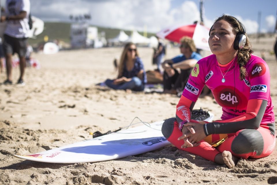 """It was a nerve-wracking heat,"" Moore said. ""When we started, Steph paddled out at a completely separate bank and I had no idea we could even surf it. She is really smart though and you can't leave someone like Steph alone on her own peak – she's too good. So I moved down there and it was a close heat. It was tough."""