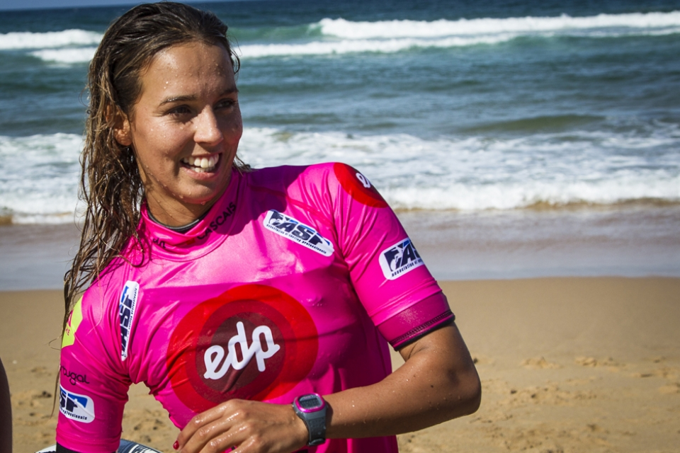 Still fizzing from her win at the Roxy Pro, Sally Fitzgibbons finished runner up in Portugal. She will surely be a title threat in 2014.
