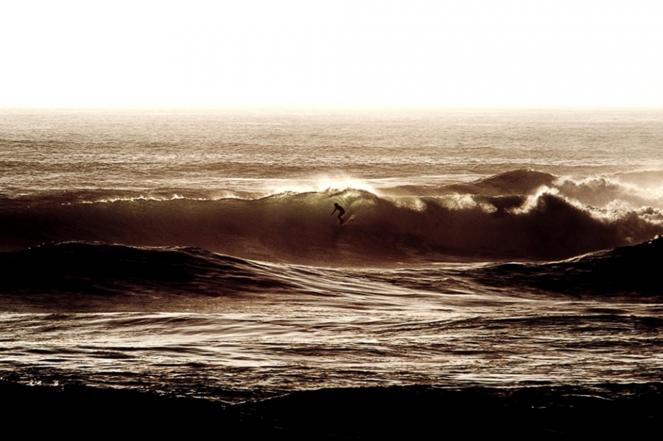 By evening just a handful of riders still remained in the water, enduring the ever growing conditions until the final shards of light vanished. For this surfer, the persistence paid off.