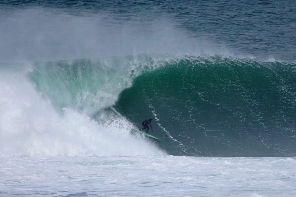 Fergal Smith during the paddle session on day one of the swell.