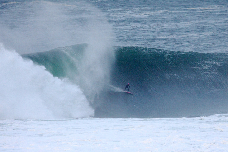 Easkey Britton showing the men how to do it. This ride has been nominated for the 2014 Billabong XXL ride of the year.