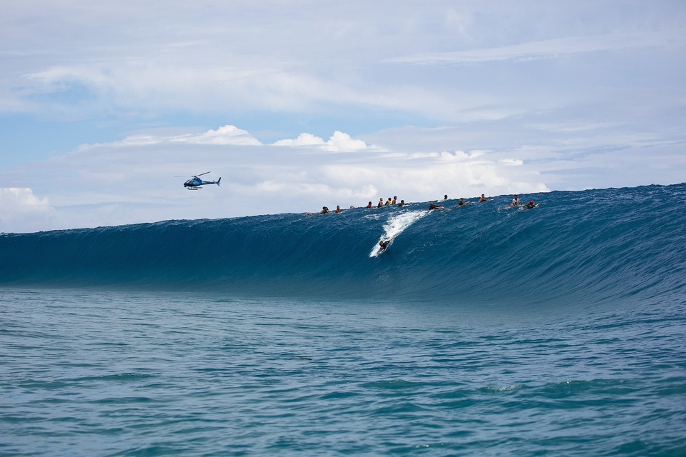 It was crazy to see the bodyboarders dropping into these bombs.