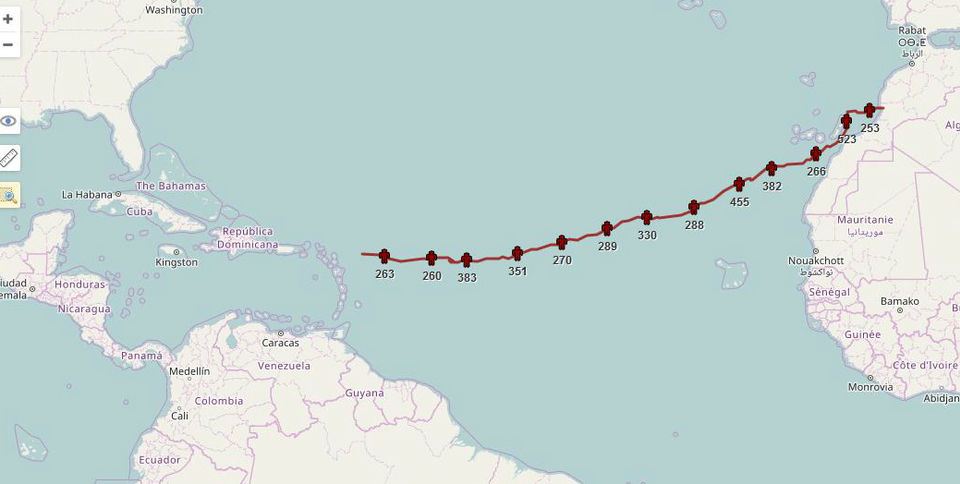Closing in on Antigua, Chris' epic voyage is almost complete.