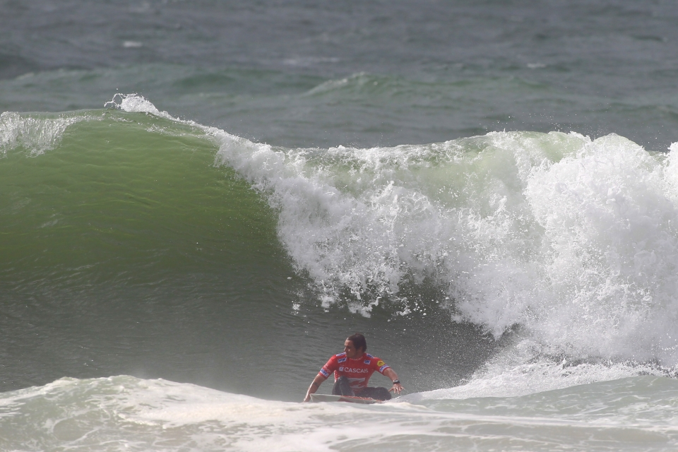 Marc Lacomare looks for a section to let off some steam after that controversial Parko heat.
