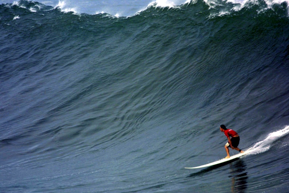 Aaron Gold at the home of big wave surfing.