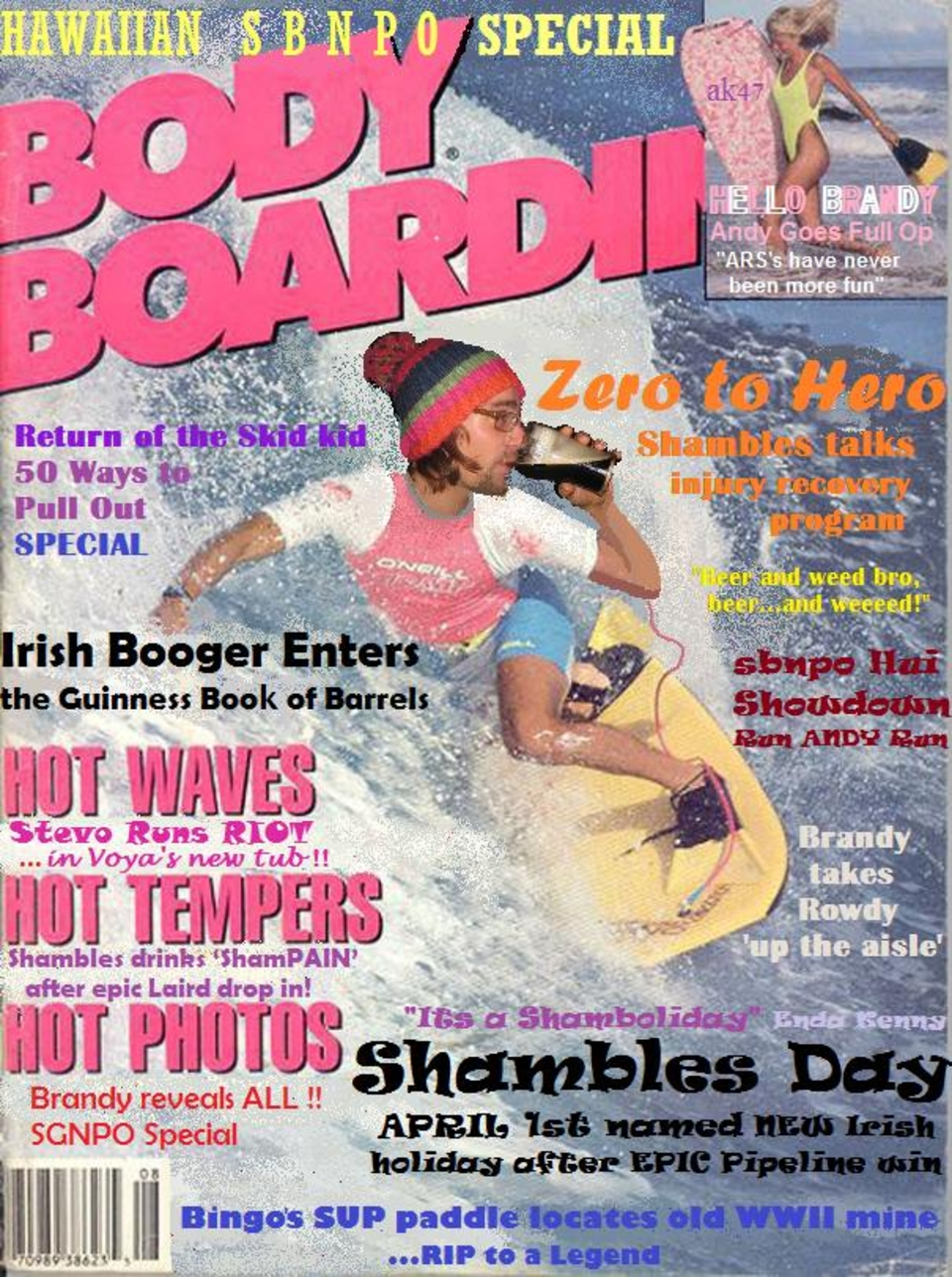 The golden years of boadyboarding? Shambles, Guinness, mag cover.