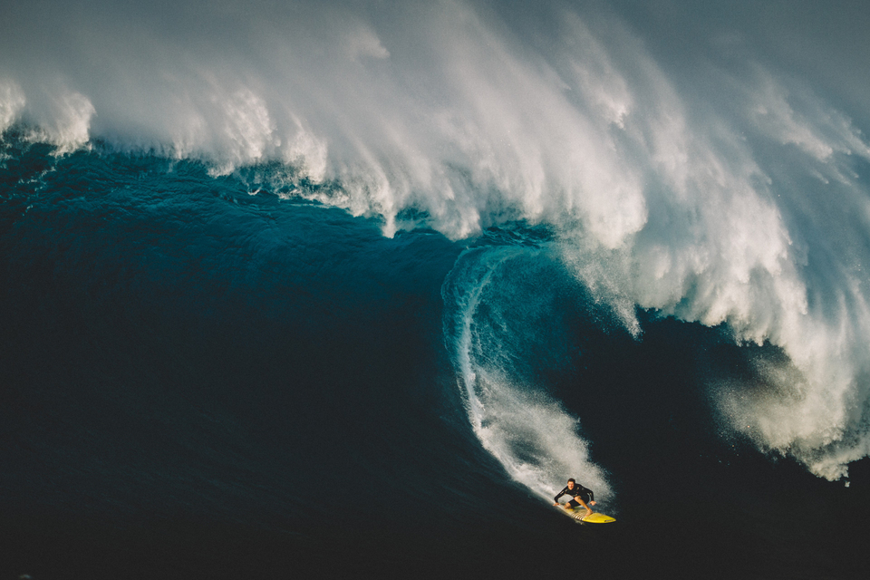 Dege O'Connell suffered an injury after getting pummelled by heavy mounds of water at Pe'ahi. His road to recovery features in Nervous Laughter.