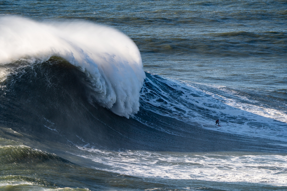 Rafael Tapia, from Chile, has put in a whole load of time at Nazare. Wednesday November 13.