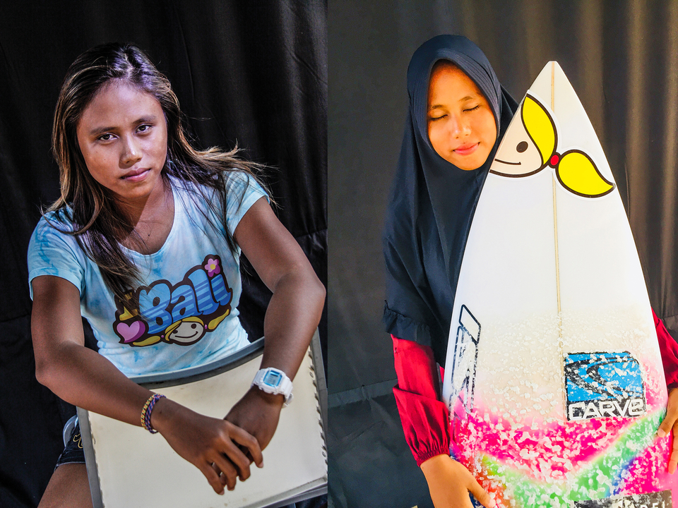 Her passion for surfing unquestionable, Dhea Nastasya is required to turn to the west and pray five times a day in proper dress that would present a challenge to any surfer living by the rhythm of the tides.
