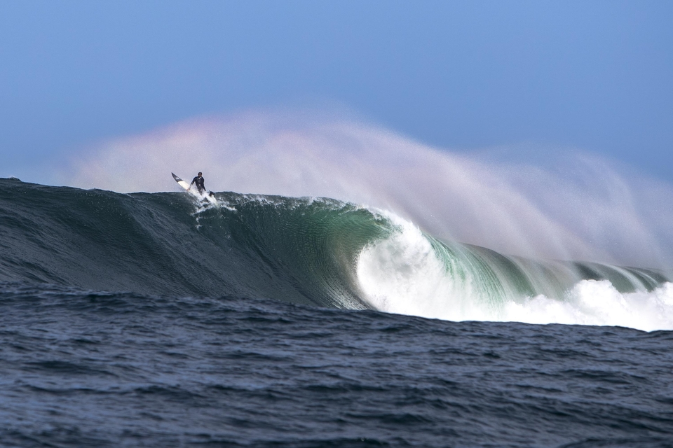 Dougal Paterson sat so deep he was almost surfing the slab.