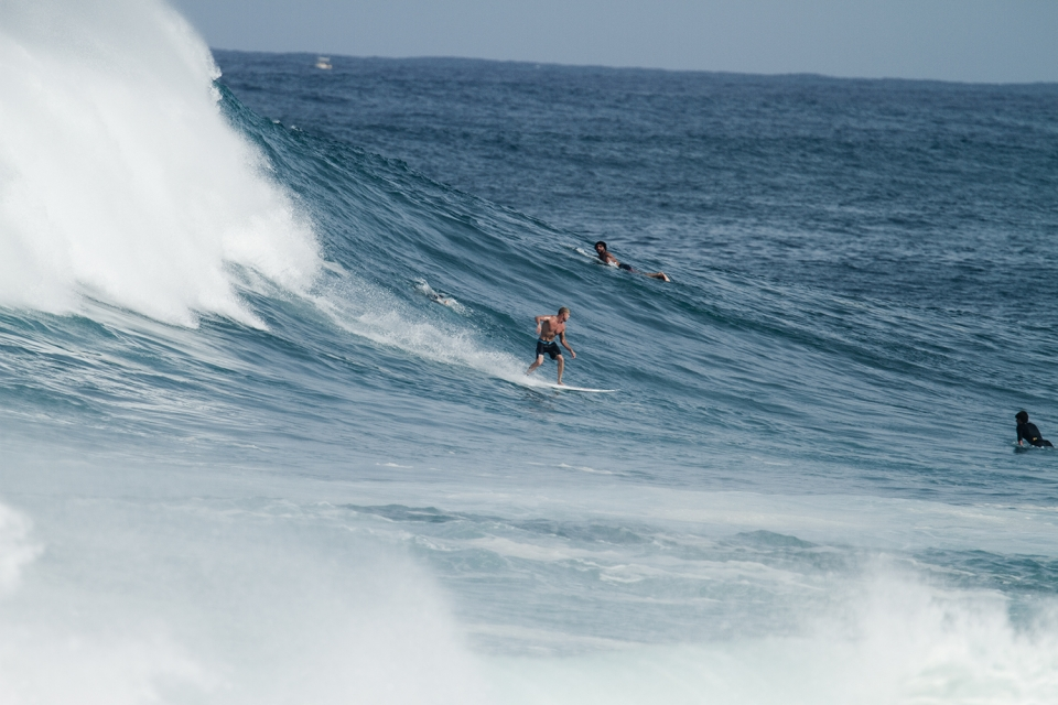 If it's big he's ready to roll in from 3rd Reef.