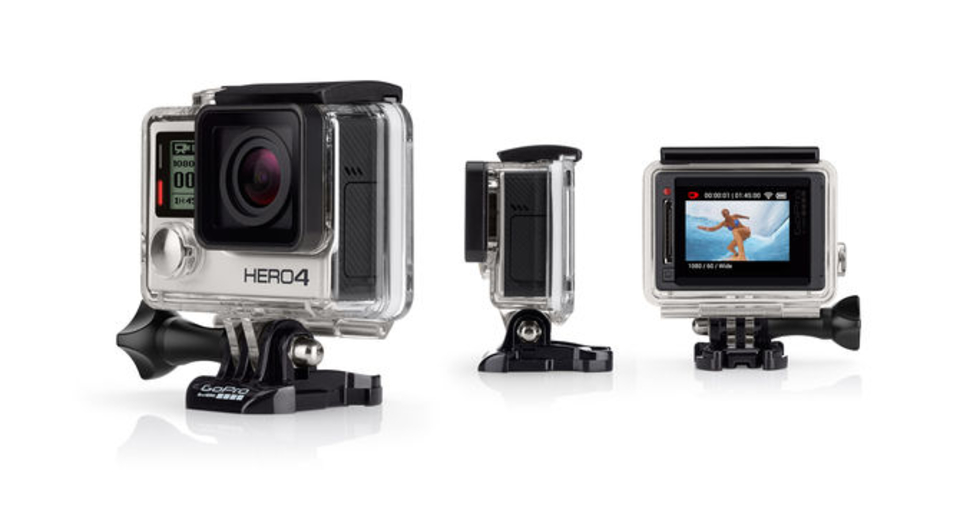 The GoPro Hero 4 Silver edition is the first GoPro camera to have a built in LCD touch screen