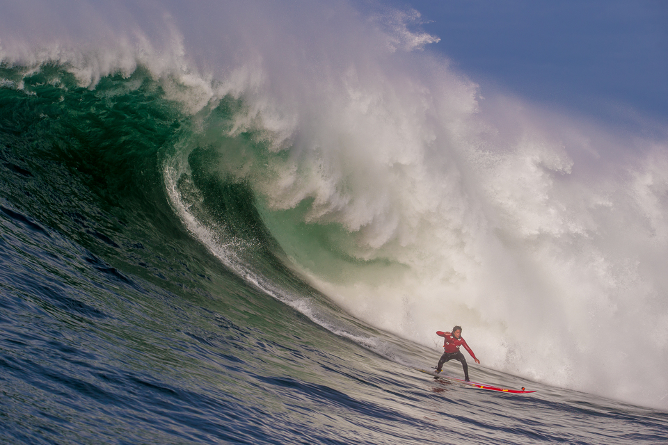 The quintessential waterman, has Kai Lenny just launched into one of the best Nelscott barrels of all time?