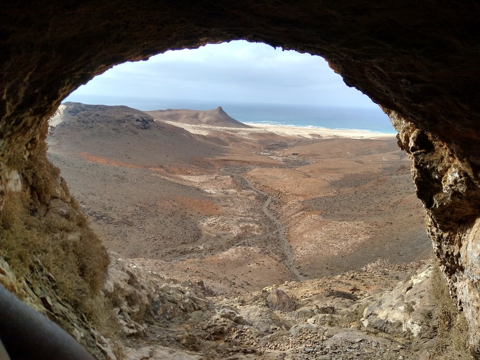 Room with a view? The perfect framing for a post-apocalyptic surf fantasy.