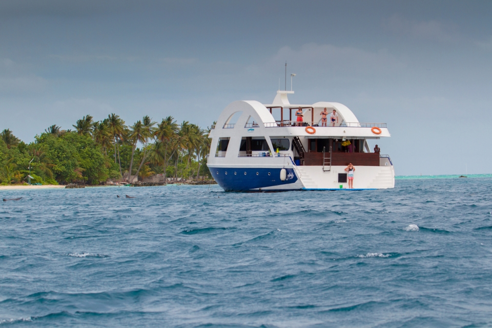 Our arrival signaled the first rain they had seen in the Maldives for several months, and it was making up for lost time. When the late afternoon storms hit, it was time to return to the boat to seek refuge inside the atolls and away from open ocean.